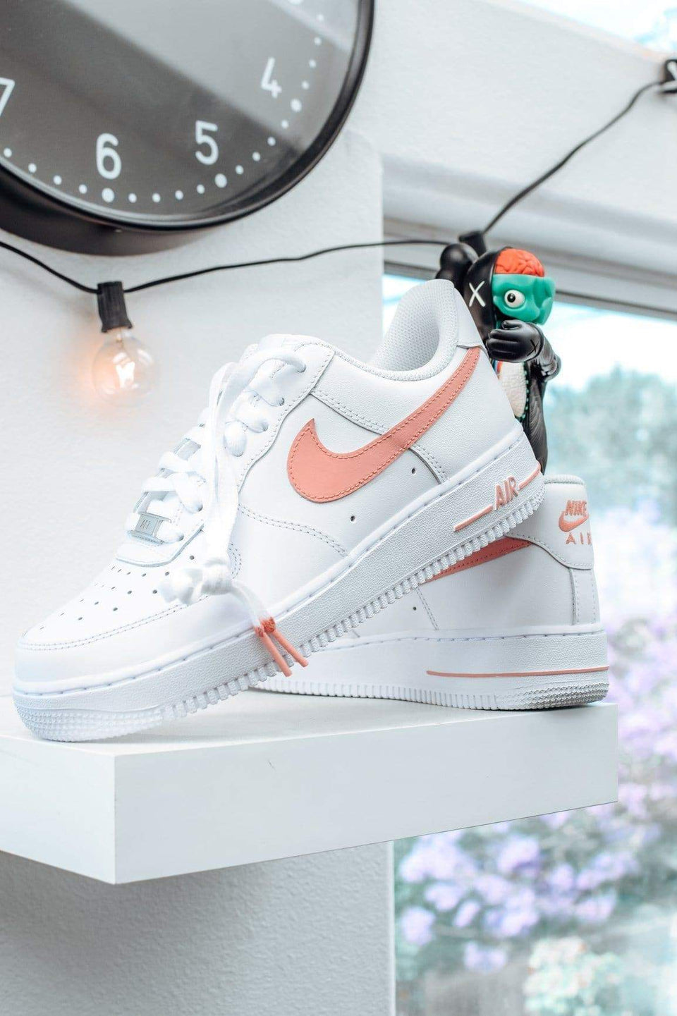 "Light Pink ""Swoosh"" Custom Air Force 1 - SandezOfficial"