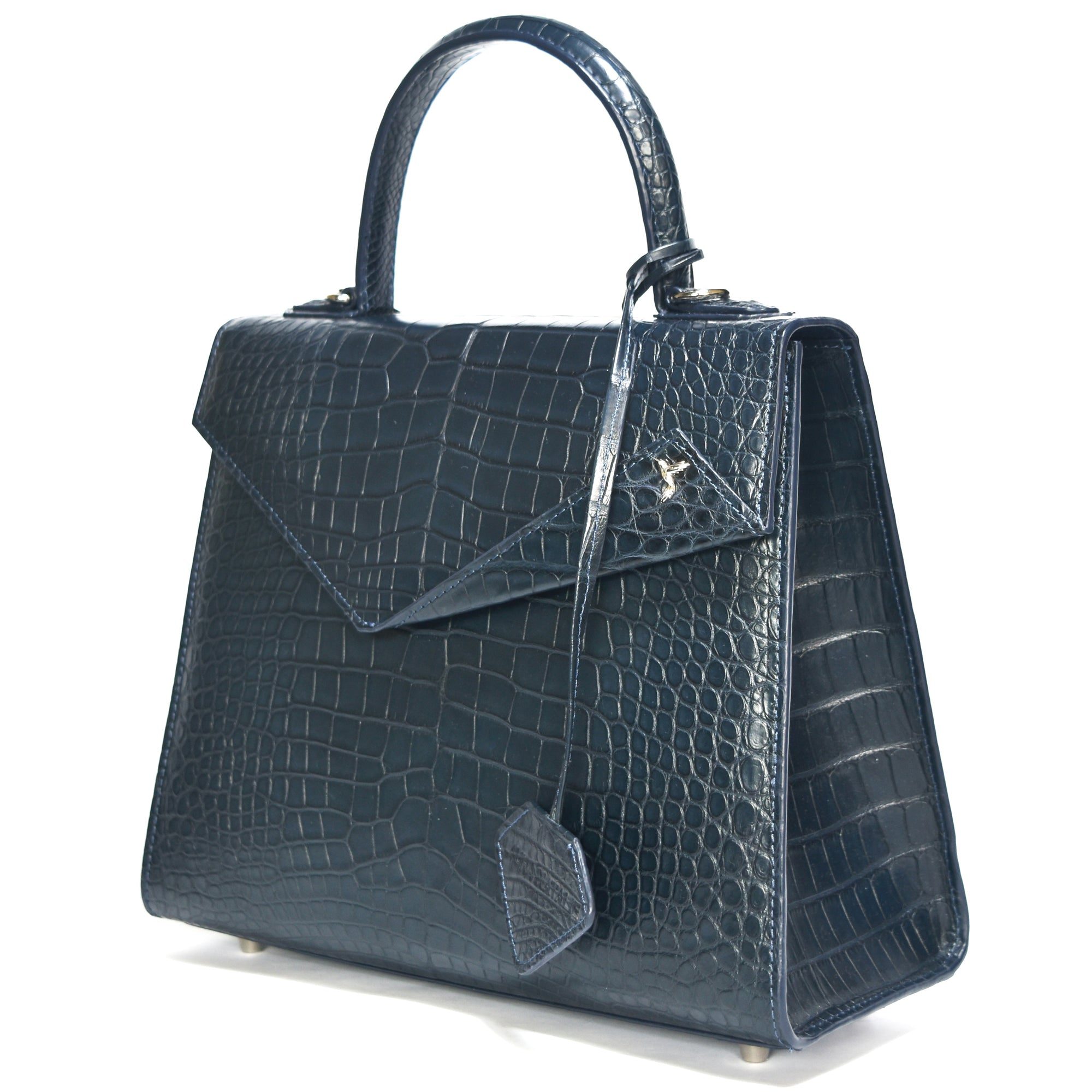 Kate Ocean Blue 26 croco leather