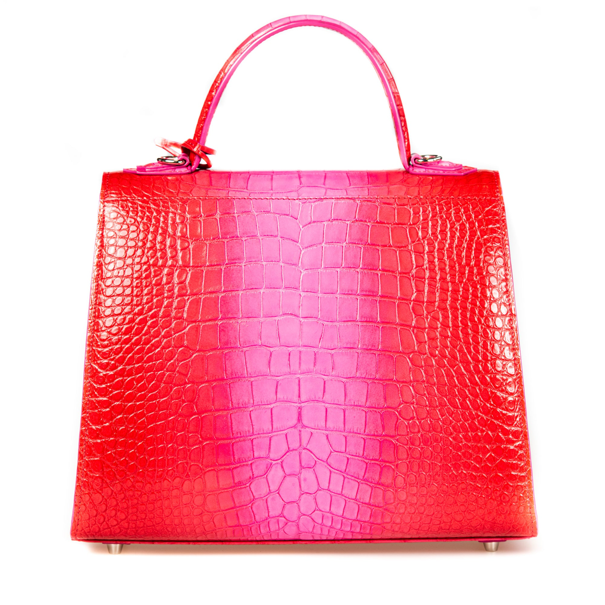 Kate 28, Pink Ombre Crocodile Leather