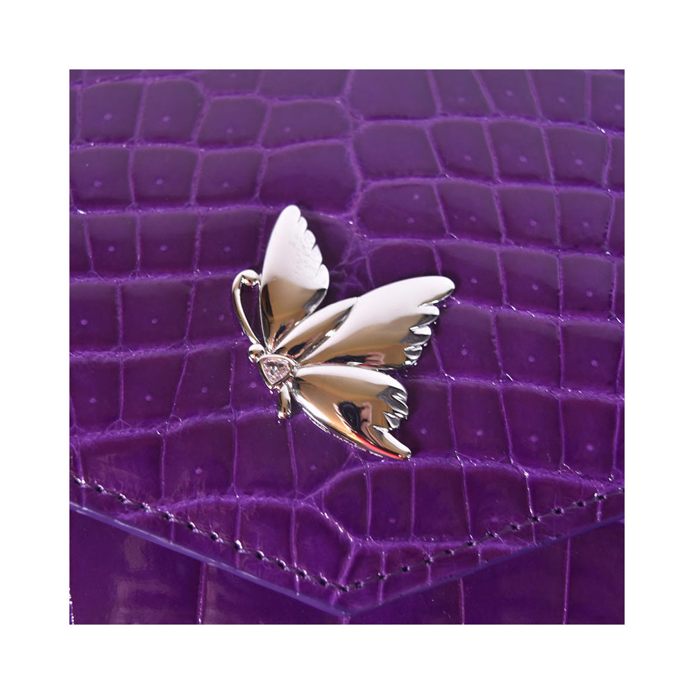 Sheryl Clutch in 18k Butterfly White Gold