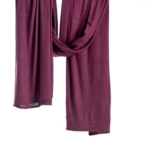 Pinless Scarf - Red Plum