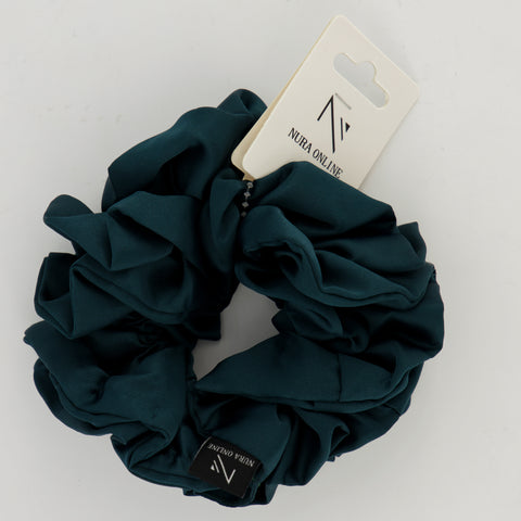 Oh so Matte! Satin Scrunchie - Teal