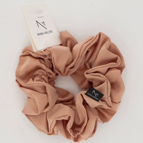 Oh so Matte! Satin Scrunchie - Champagne