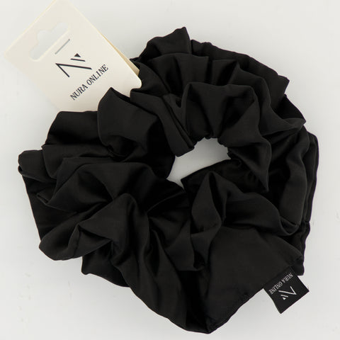 Oh so Matte! Satin Scrunchie - Black