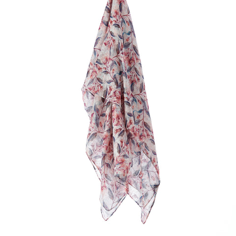 Printed Cotton Scarf - Magnolia