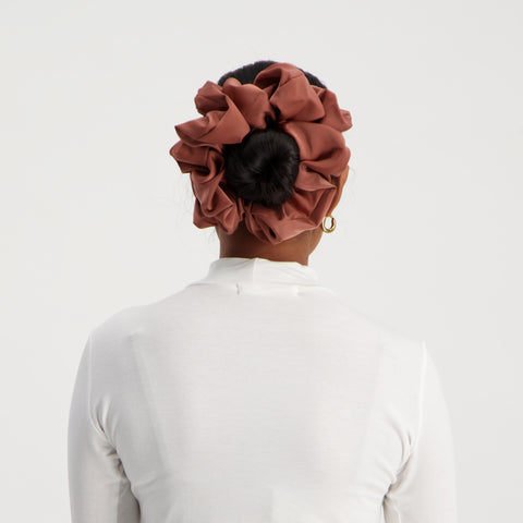 Puff Scrunchie in Dusty Rose