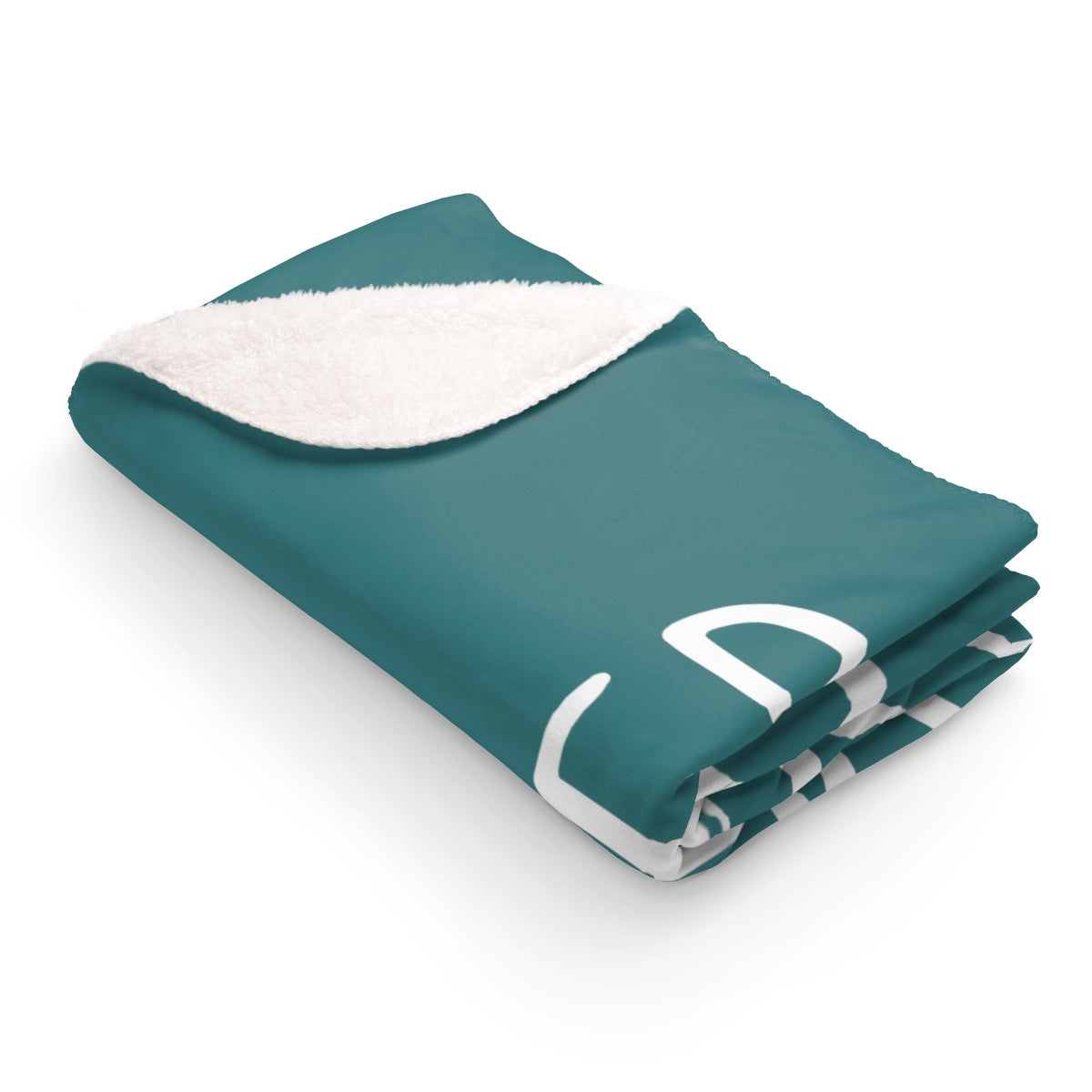 Grover Sherpa Fleece Blanket: Teal