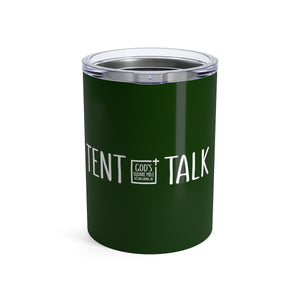 Tent Talk Solo Cup: Dark Green