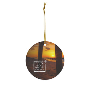 God's Square Mile Round Ceramic Ornaments