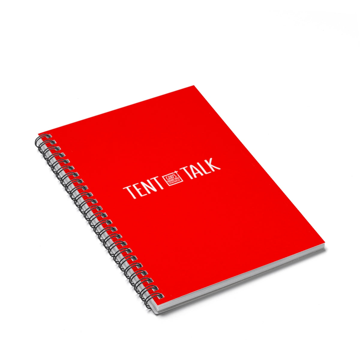 Tent Talk Spiral Notebook - Red