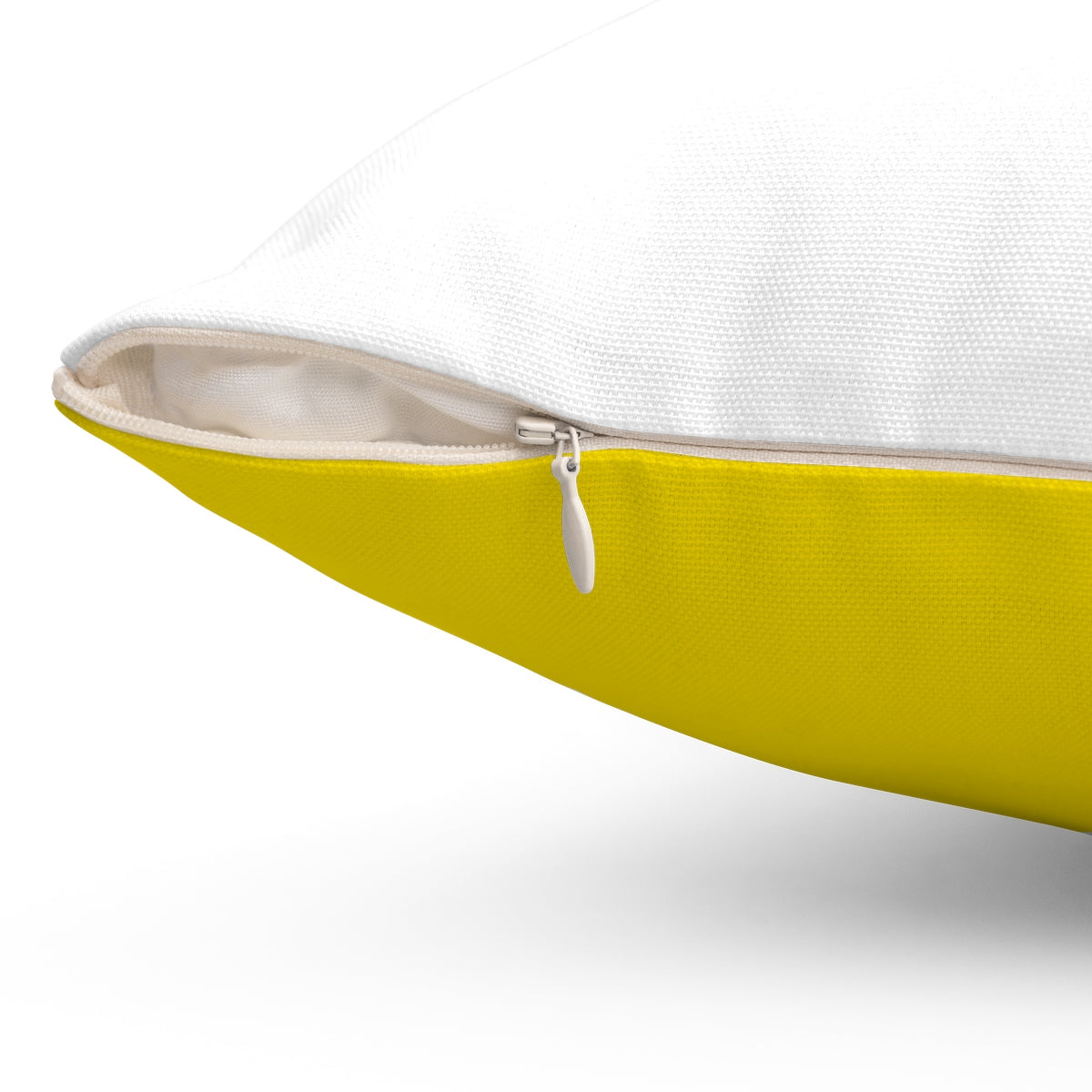 Tent Life Awning Pillow: Yellow & White Stripe