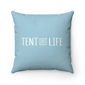 Tent Life Pillow: Light Blue