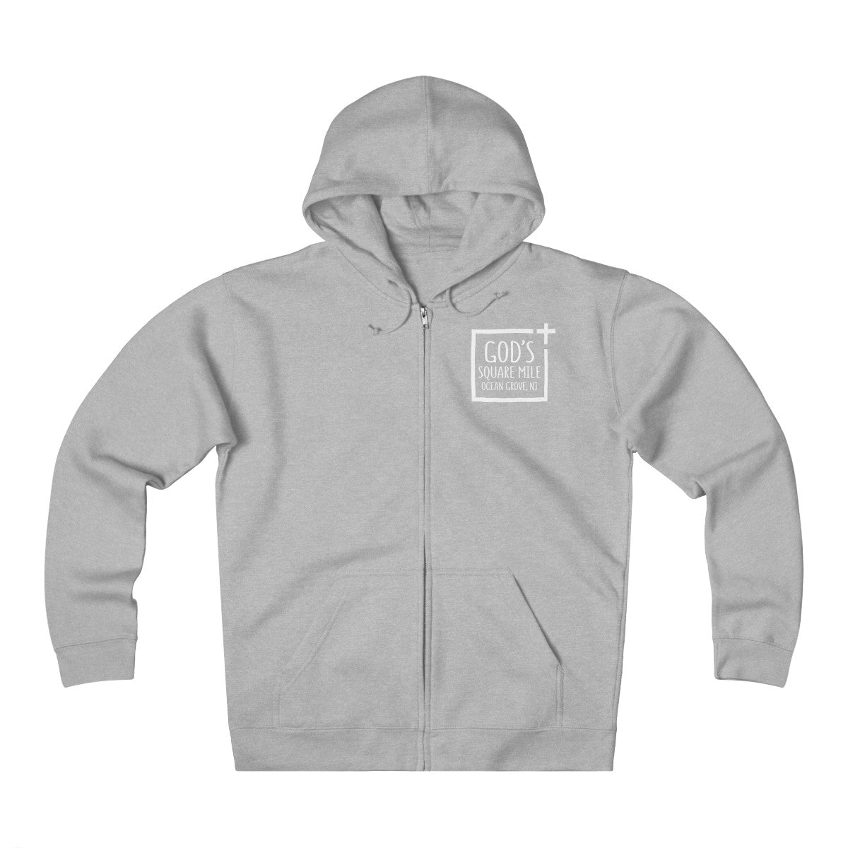 God's Square Mile Heavyweight Fleece Zip Hoodie: Multiple Colors - GoGannon Designs