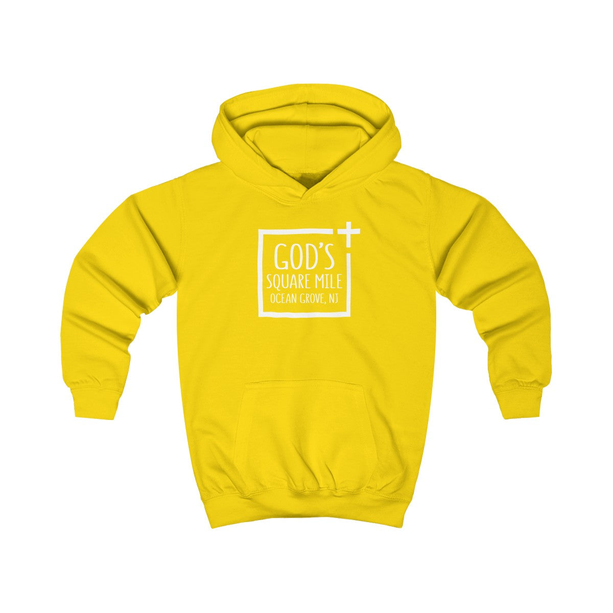 God's Square Mile Kids Pullover Hoodie: Multiple Colors - GoGannon Designs