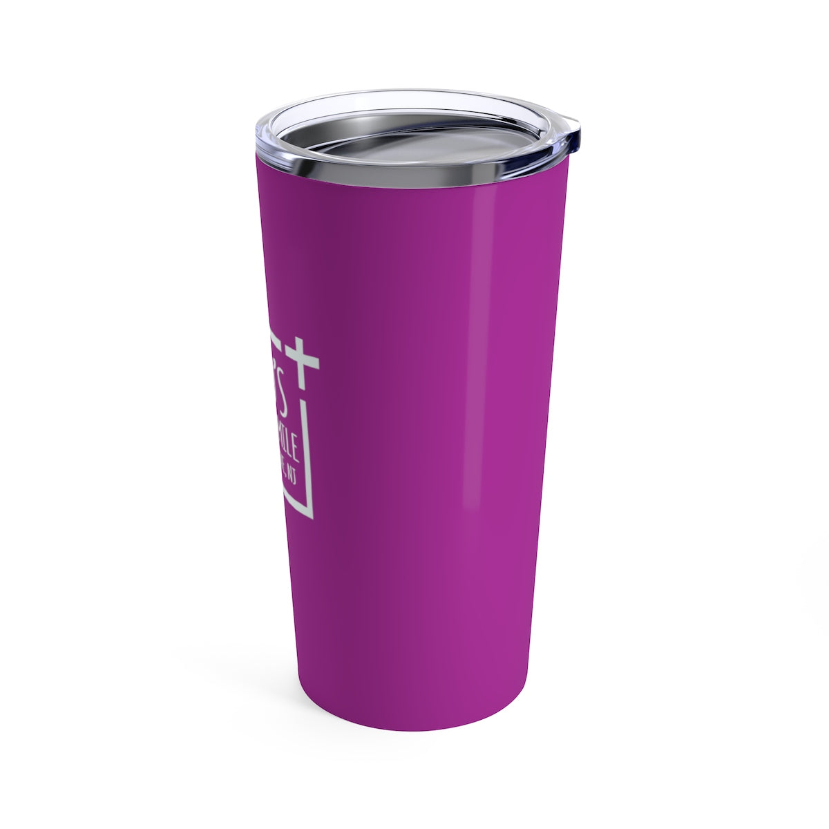 God's Square Mile Tumbler: Purple