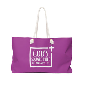 God's Square Mile Weekender Bag: Purple