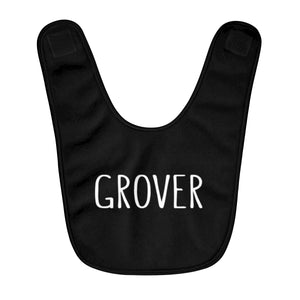 Grover Baby Bib: Black