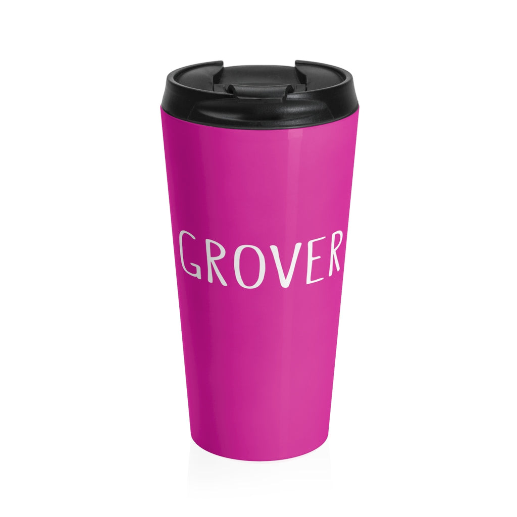 Grover Stainless Steel Travel Mug: Pink