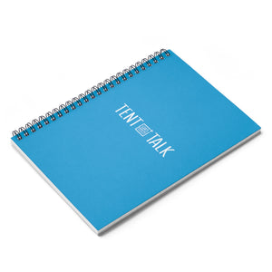 Tent Talk Spiral Notebook - Bright Blue