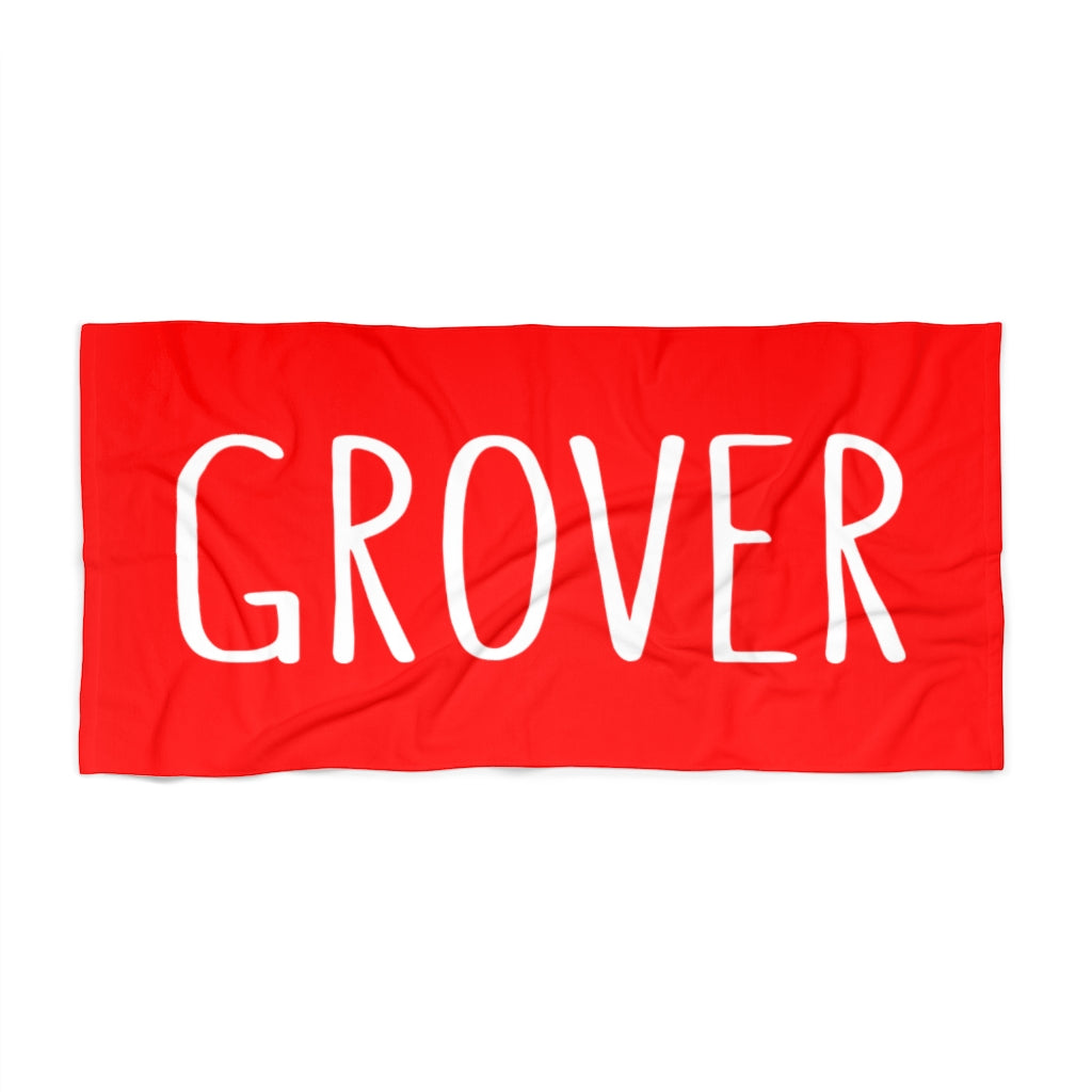 Grover Beach Towel: Red