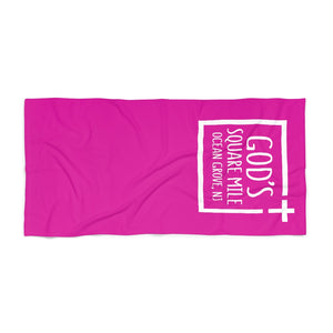 God's Square Mile Beach Towel: Pink