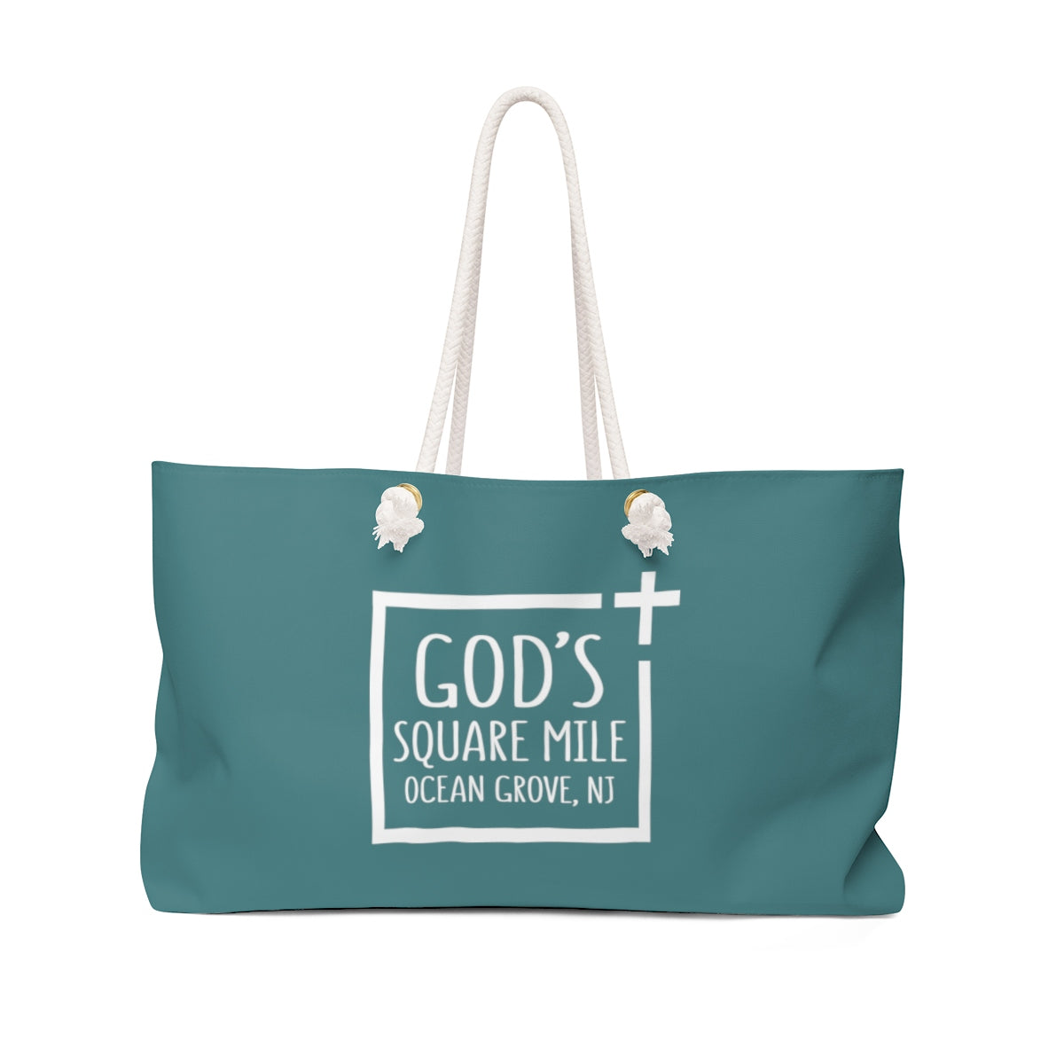 God's Square Mile Weekender Bag: Teal