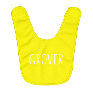 Grover Baby Bib: Yellow