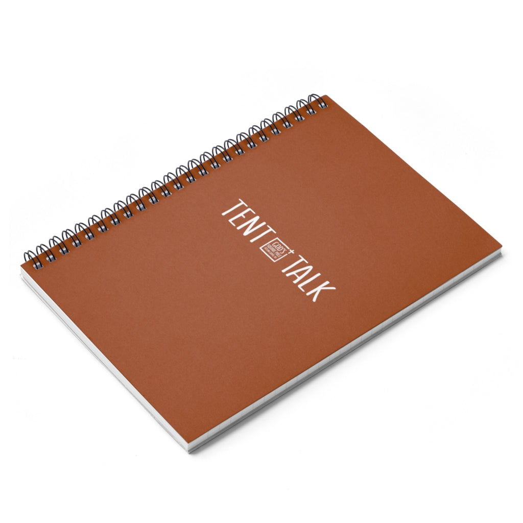 Tent Talk Spiral Notebook - Caramel