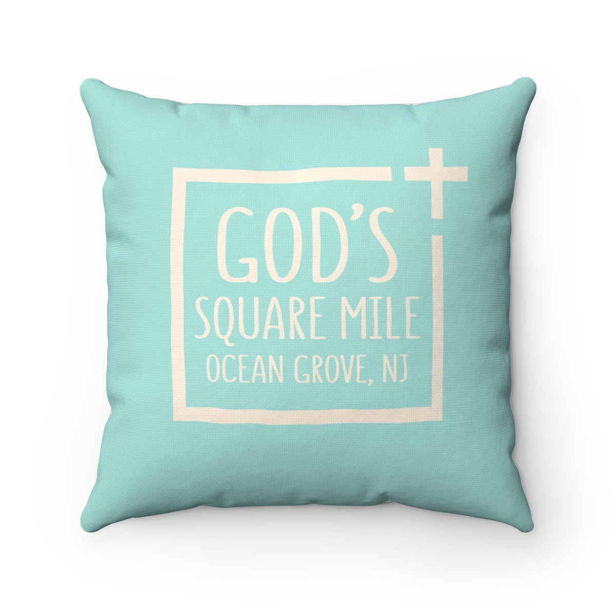 God's Square Mile Pillow: SeaScape