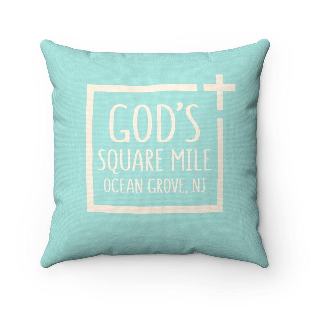 God's Square Mile Pillow: SeaScape - GoGannon Designs