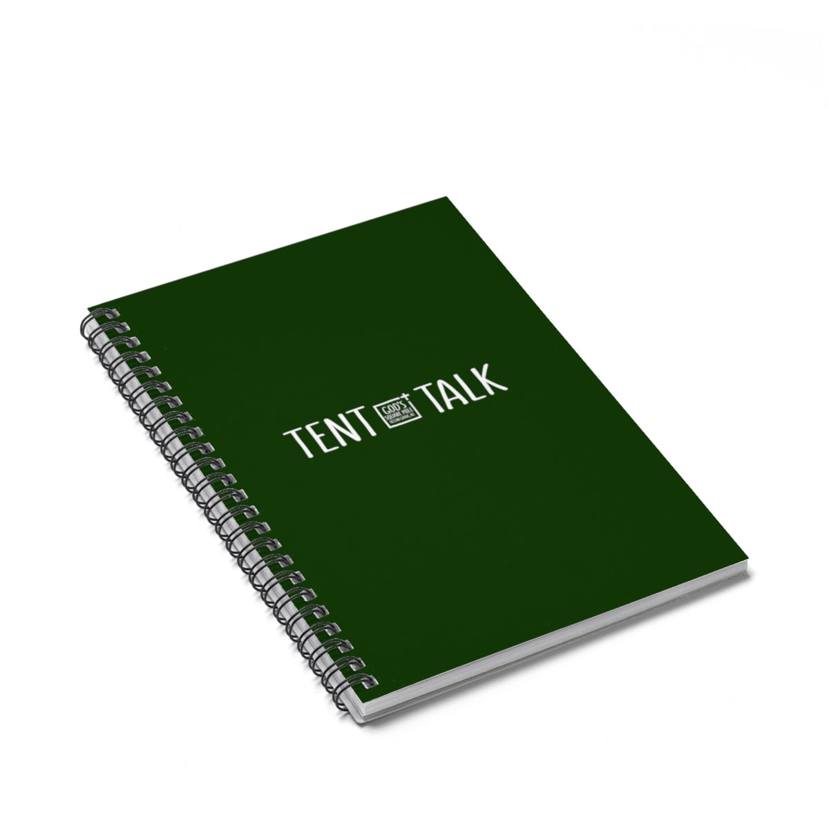 Tent Talk Spiral Notebook - Dark Green