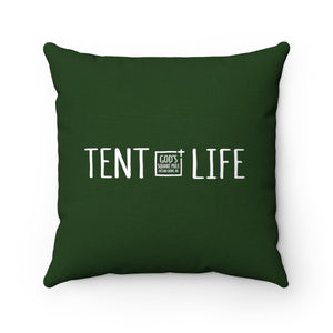 Tent Life Pillow: Dark Green