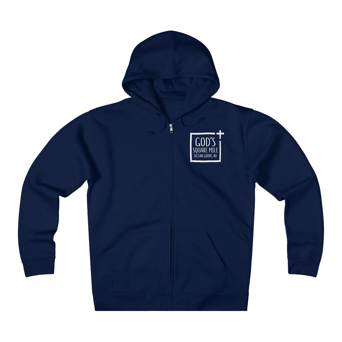 God's Square Mile Heavyweight Fleece Zip Hoodie: Multiple Colors