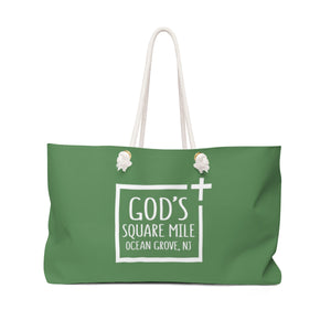 God's Square Mile Weekender Bag: Green