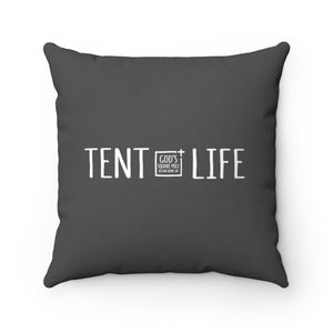 Tent Life Pillow: Dark Gray