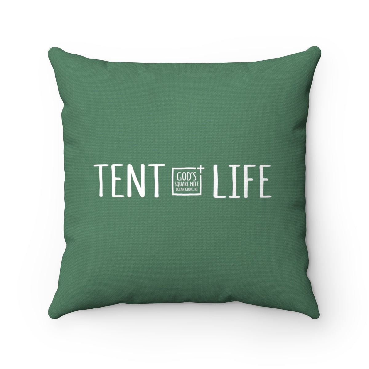 Tent Life Pillow: Faded Green