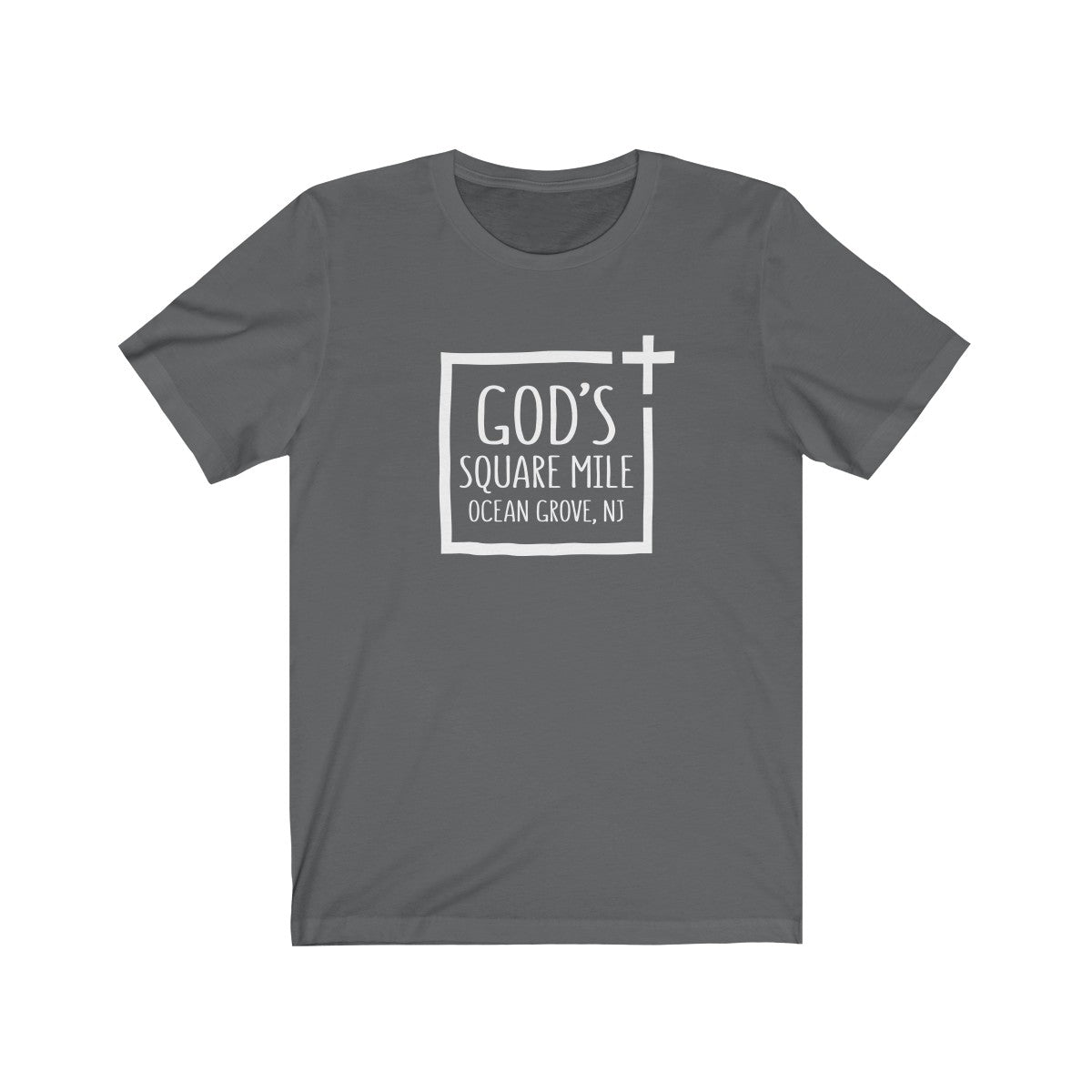 God's Square Mile Short Sleeve Tshirt: Multiple Colors - GoGannon Designs