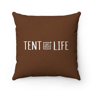Tent Life Pillow: Dark Brown