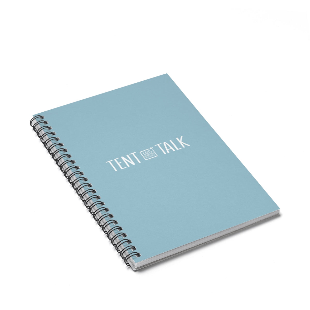 Tent Talk Spiral Notebook - Light Blue Gray