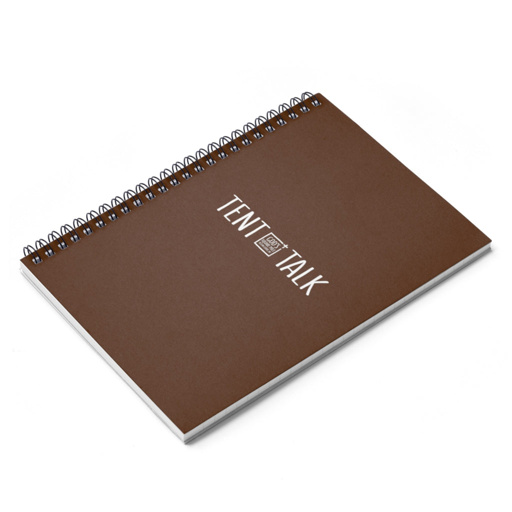 Tent Talk Spiral Notebook - Brown