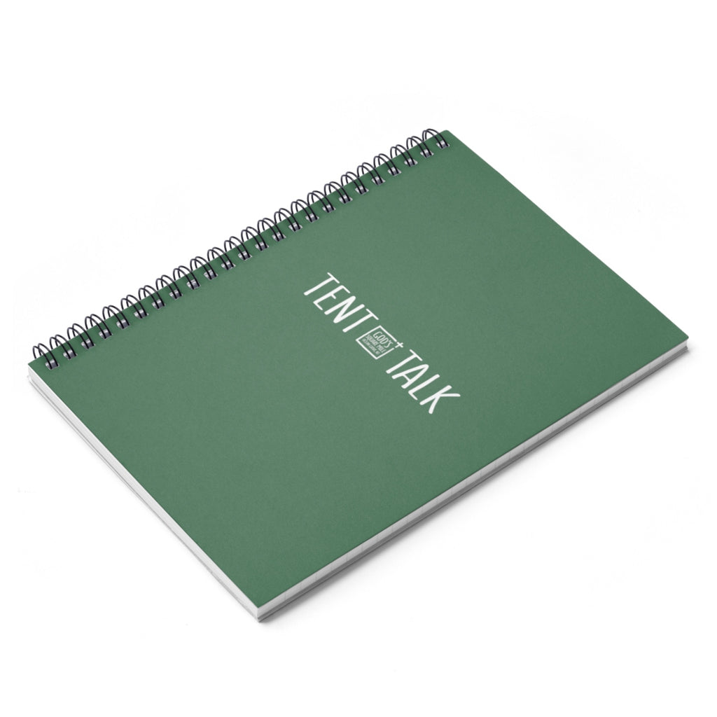 Tent Talk Spiral Notebook - Faded Green