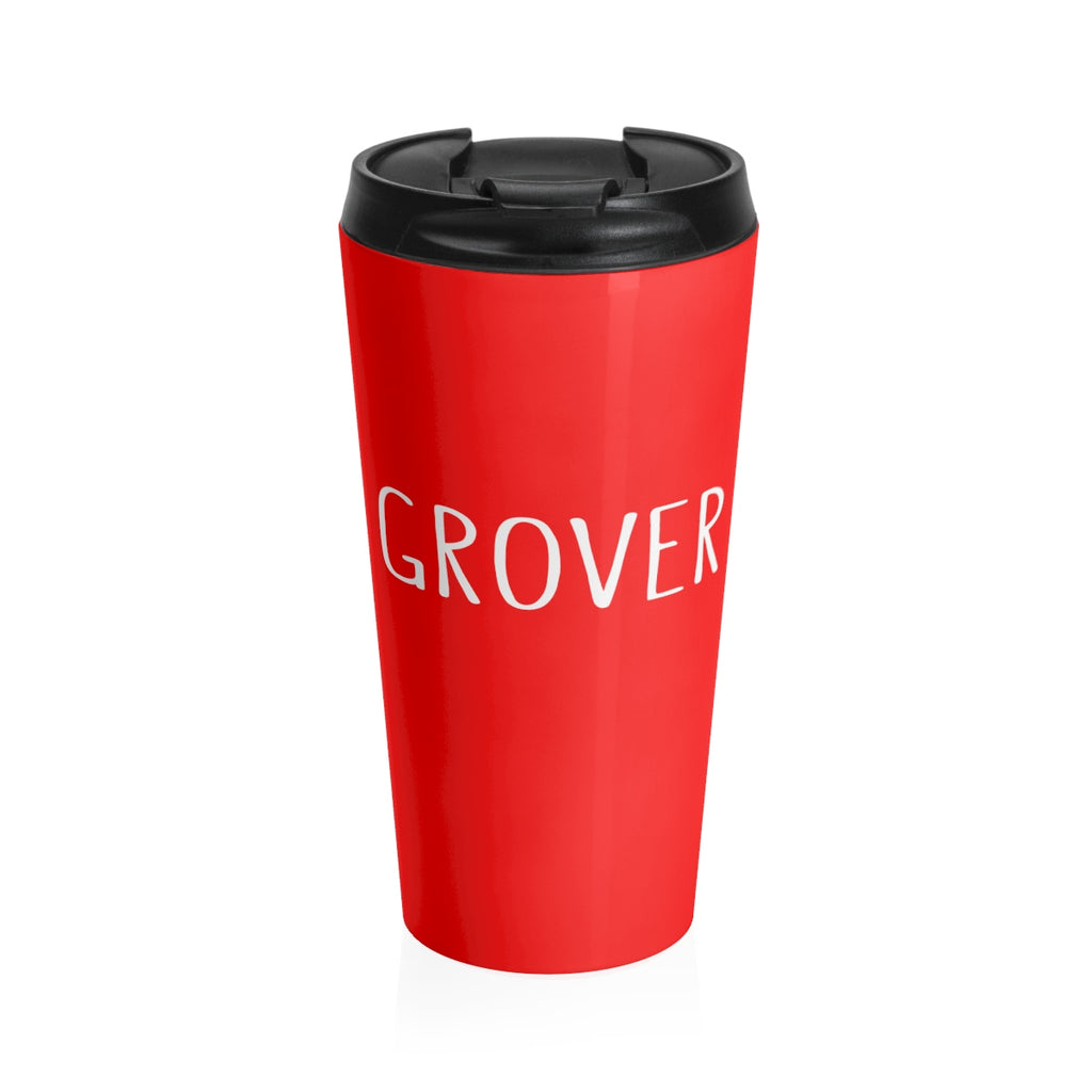 Grover Stainless Steel Travel Mug: Red