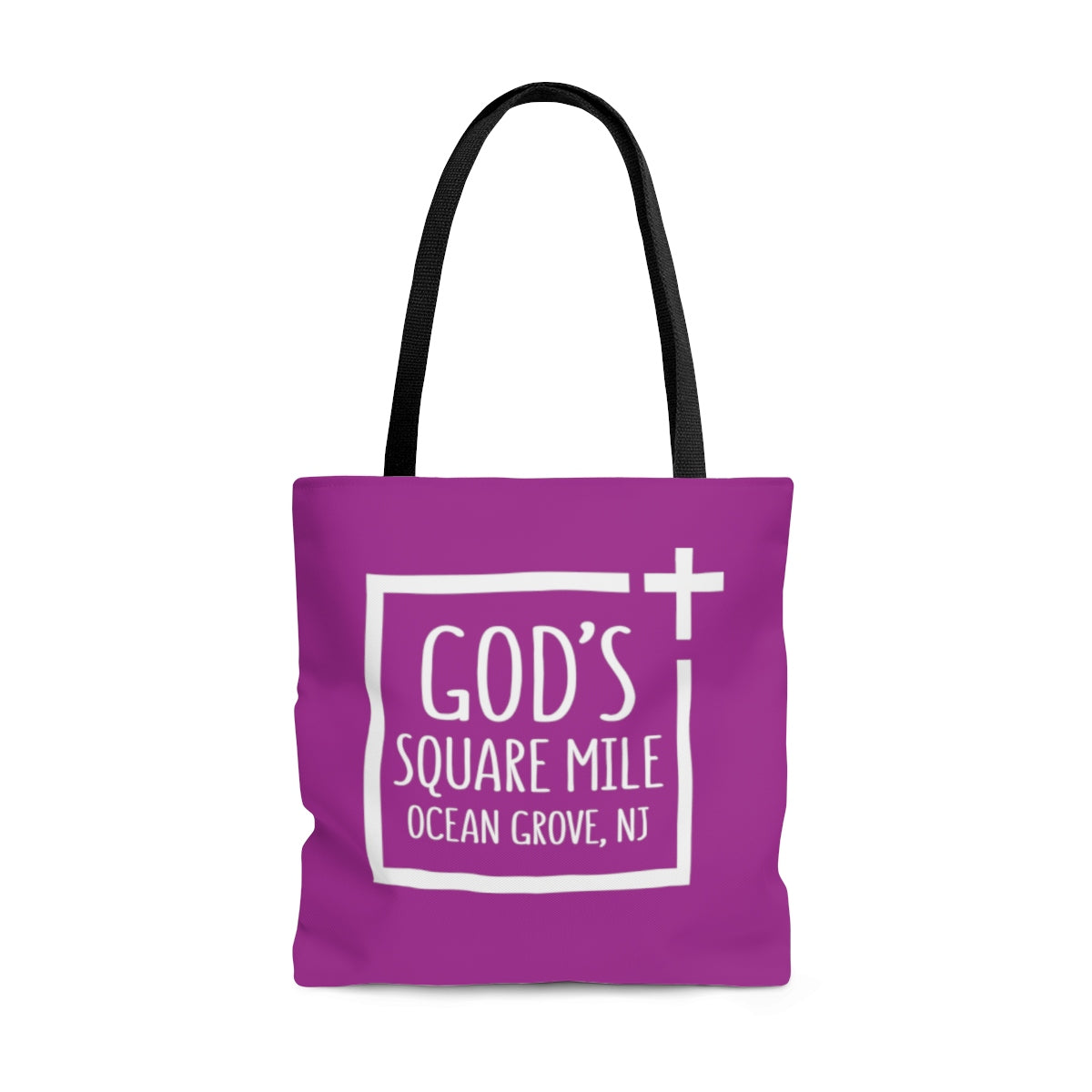 God's Square Mile Tote: Purple