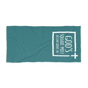 God's Square Mile Beach Towel: Teal