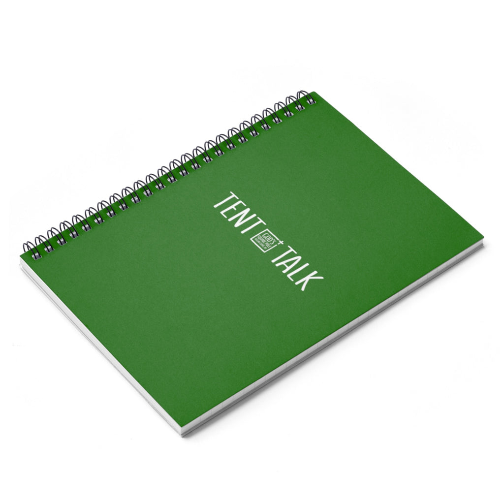 Tent Talk Spiral Notebook - Bright Green