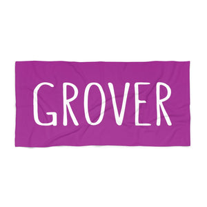 Grover Beach Towel: Purple