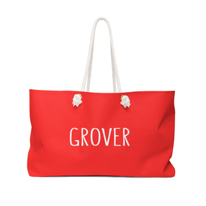 Grover Weekender Bag: Red