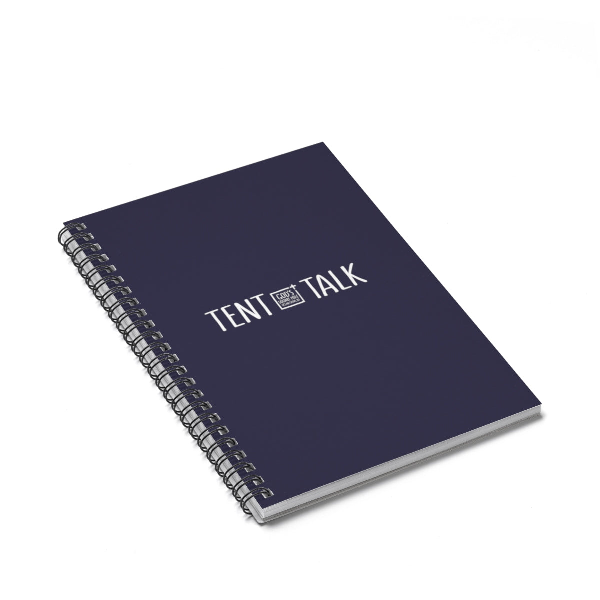 Tent Talk Spiral Notebook - Dark Blue