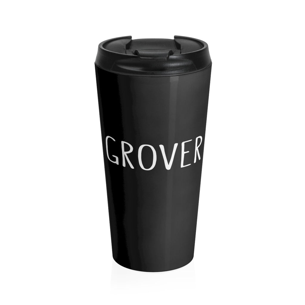 Grover Stainless Steel Travel Mug: Black