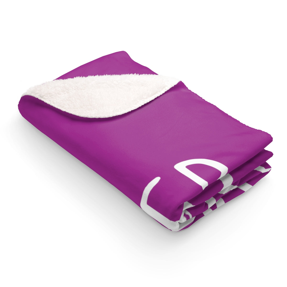 Grover Sherpa Fleece Blanket: Purple